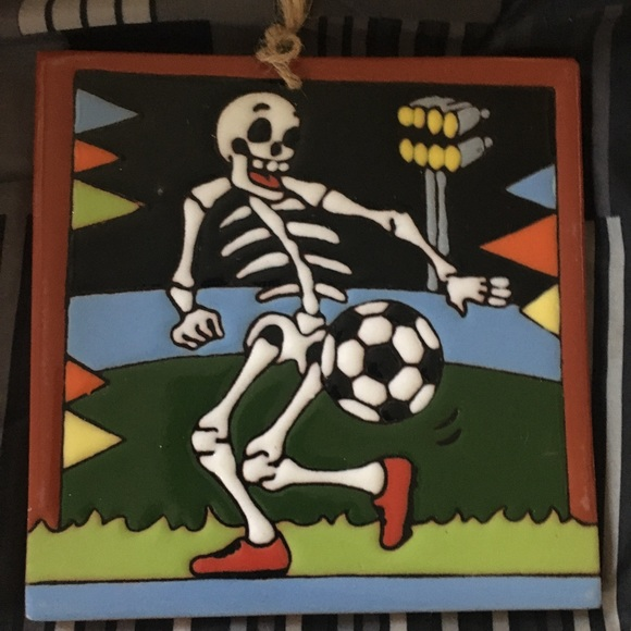Other - Day of the dead skeleton . Soccer